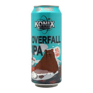 Пиво Konix Overfall IPA светлое нефильтрованное непастеризованное 6,5%