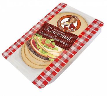 Сыр Заботливая Хозяйка плавленый копченый 40% нарезка