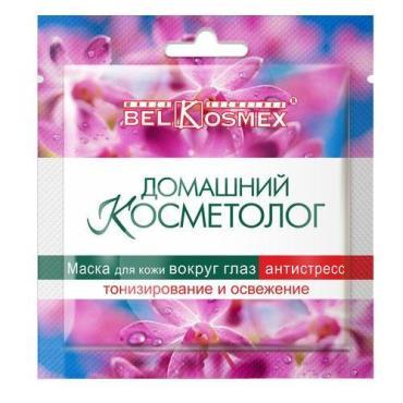 Маска для кожи вокруг глаз Belkosmex Домашний Косметолог антистресс тонизирование и освежение