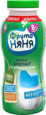 Продукт кисломолочный Фрутоняня Биолакт, без добавления сахара, 3,4%