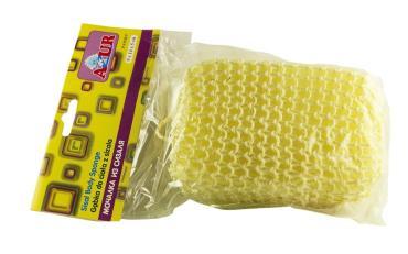 Мочалка из сизаля объемная 9х14х5 сантиметров, Azur, 10 гр., Пластиковый пакет