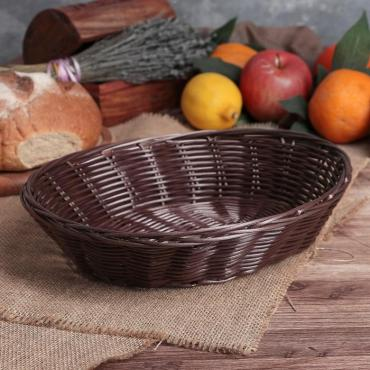 Корзина для хлеба и фруктов Доляна Шоко 27х21х6 см.