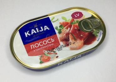 Консервы Лосось в томатном креме KAIJA 170гр, 1/24
