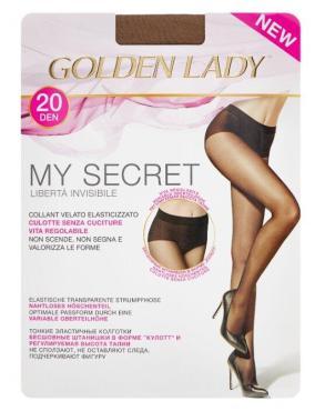 Колготки размер 2-S, Golden Lady My Secret 20 den, 50 гр., бумажная упаковка