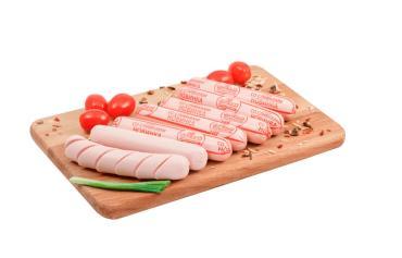 Сосиски Со сливками категория В, Мясной Гурман, 2,5 кг., вакуумная упаковка