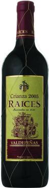 Вино, красное сухое, Raices Crianza Valdepenas 2014, 750 мл., стекло, Испания