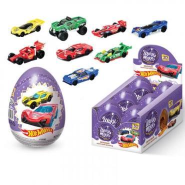 Шоколадное яйцо с сюрпризом Конфитрейд Шоки-токи Нot wheels XXL, 70 гр., картонная коробка