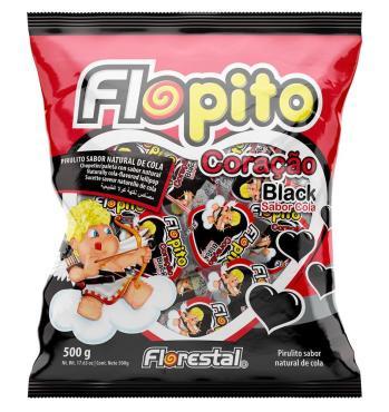 Леденец Flopito малое красное сердце, 4 гр., флоу-пак