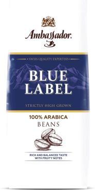 Кофе в зернах Ambassador Blue Label, 200 гр., пластиковый пакет