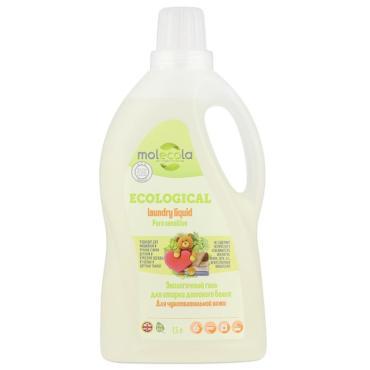 Гель для стирки детского белья для чувствительной кожи Molecola Pure Sensitive, 1,5 л., Пластиковая бутылка