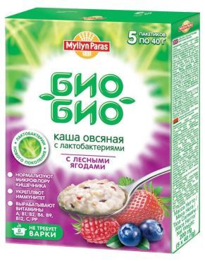 Каша Myllyn Paras Био-био с лесными ягодами овсяная