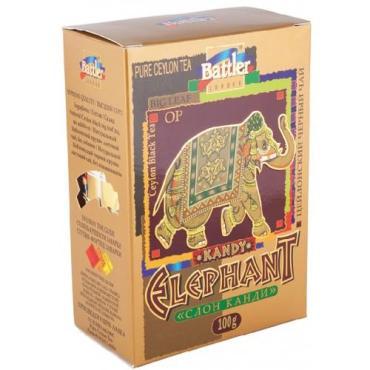 Чай чёрный крупнолистовой Battler Kandy Elephant Слон Канди 100 гр.