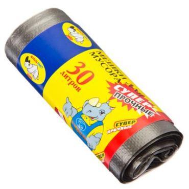 Мешки для мусора Особопрочные 30 л. 20 шт. Мультипласт ,