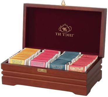 Чай чёрный пакетированный Ти Тэнг Чайное ассорти 4 вида 100 пак. 200 гр.