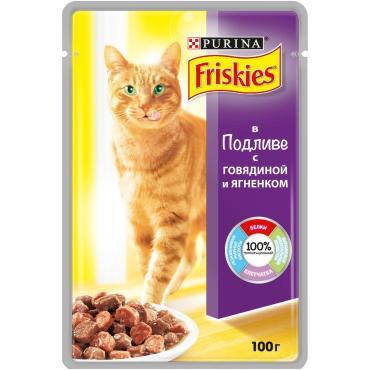 Корм Friskies для кошек говядина и ягненок в подливе