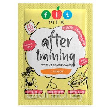 Коктейль льняной с тыквой, Fit Mix After training, 20 гр., пластиковая упаковка