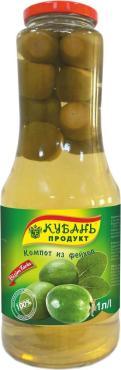 Компот Фейхоа Кубань продукт, 1 л., стекло