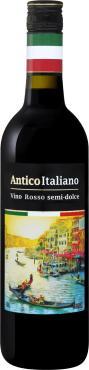 Вино 10,0-12,0 % столовое полусладкое красное Олимп Antico italiano, Россия, 700 мл., стекло