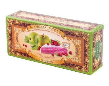 Пастила с брусникой Белевская Пастильная Мануфактура, 50 гр., картонная коробка