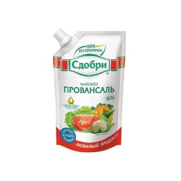 Майонез Сдобри Провансаль классический, 67 %, 250 гр., дой-пак с дозатором