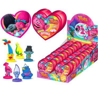 Драже Конфитрейд Trolls сердце с игрушкой и валентинкой