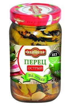 Перец острый на гриле Олинеза, 450 гр., стекло