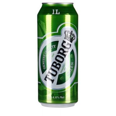 Пиво светлое 4,6% Tuborg Green Special 900 мл., Жестяная банка