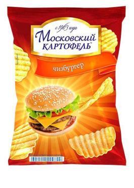 Чипсы Московский Картофель чизбургер