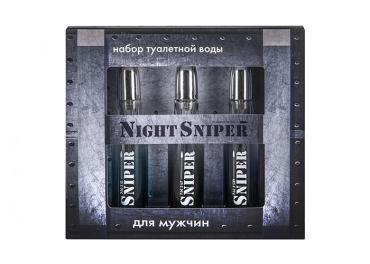 Парфюмерный набор для мужчин Понти Парфюм Night Sniper цвет серый металлик
