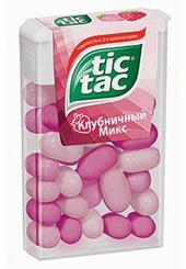 Драже Tic Tac Клубника, 16 гр., ПЭТ