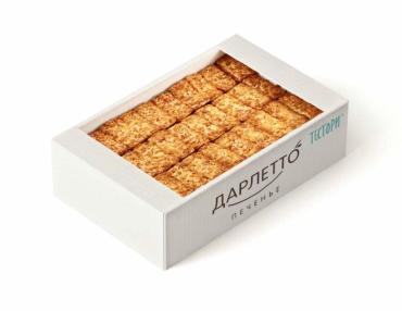 Печенье Дарлетто Сдобные палочки Снежка с абрикосовым джемом