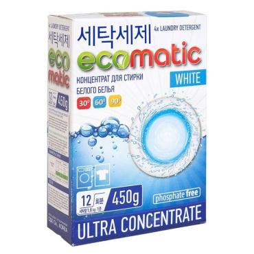 Стиральный порошок для белого белья Ecomatic 450 гр., Картонная коробка
