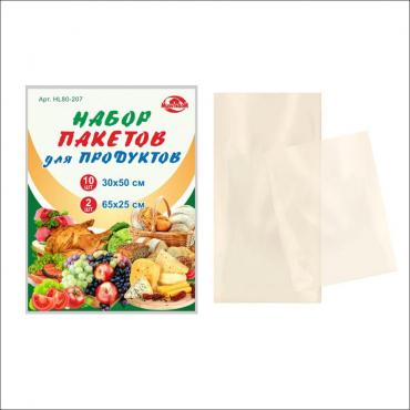 Пакеты для продуктов Мультидом Набор 10шт. 30х50см. + 2шт. 65х25см.