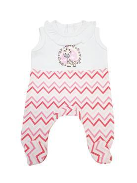 Одежда для кукол Колибри, Комбинезон белый, розовый