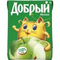 Сок Добрый яблочный 0,2 л.