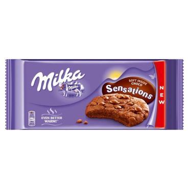 Печенье Milka Sensations с шоколадными каплями   156 гр.