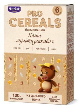 Каша безмолочная мультизлаковая цельнозерновая Nutrilak Premium, 200 гр., картонная коробка