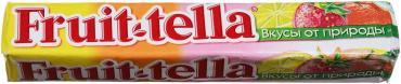 Конфеты жевательные ассорти, Fruittella, Перфетти Ван Мелле, 42,5 гр., бумажная упаковка