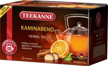 Чай Teekanne Kaminabend ройбуш апельсин корица в пакетиках