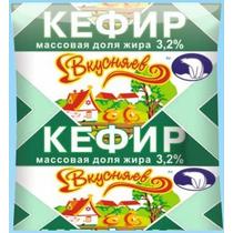 Кефир Вкусняев 3,2% 430 г