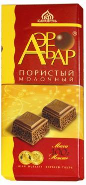 Шоколад Золотая Русь Аэробар молочный пористый