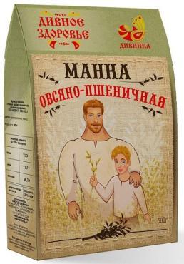 Манка овсяно-пшенияная Дивинка Дивное здоровье 300 гр., бумажная упаковка