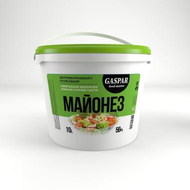 Майонез 56% Gaspar Food Master, 10 л., пластиковое ведро