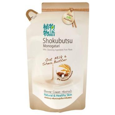 Крем-гель для душа овсяное молочко и масло ши Shokubutsu, 500 мл., дой-пак