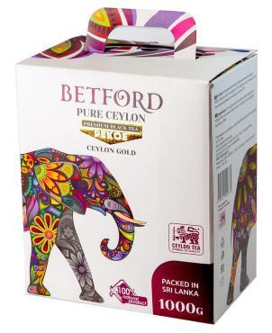 Чай РЕКОЕ х 10 (Цейлон), Betford,  1 кг., картонная коробка