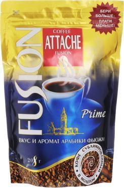 Кофе растворимый, Attache Fusion Prime, 208 гр., дой-пак