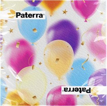 Салфетки бумажные 20шт 33х33см Paterra Шарики, пластиковый пакет