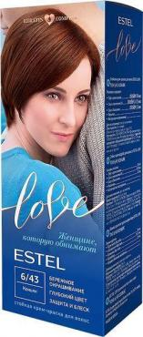 Краска-гель стойкая для волос оттенок Коньяк ESTEL LOVE , 115 мл., картонная коробка