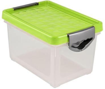 Ящик для хранения, цвет зеленый, прозрачный, 5,1 л., BranQ, Systema 305 гр.