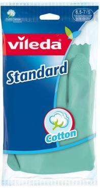 Перчатки Vileda Standard размер S, зеленые